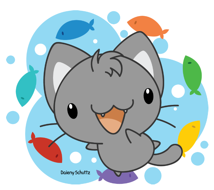 clipart fish party