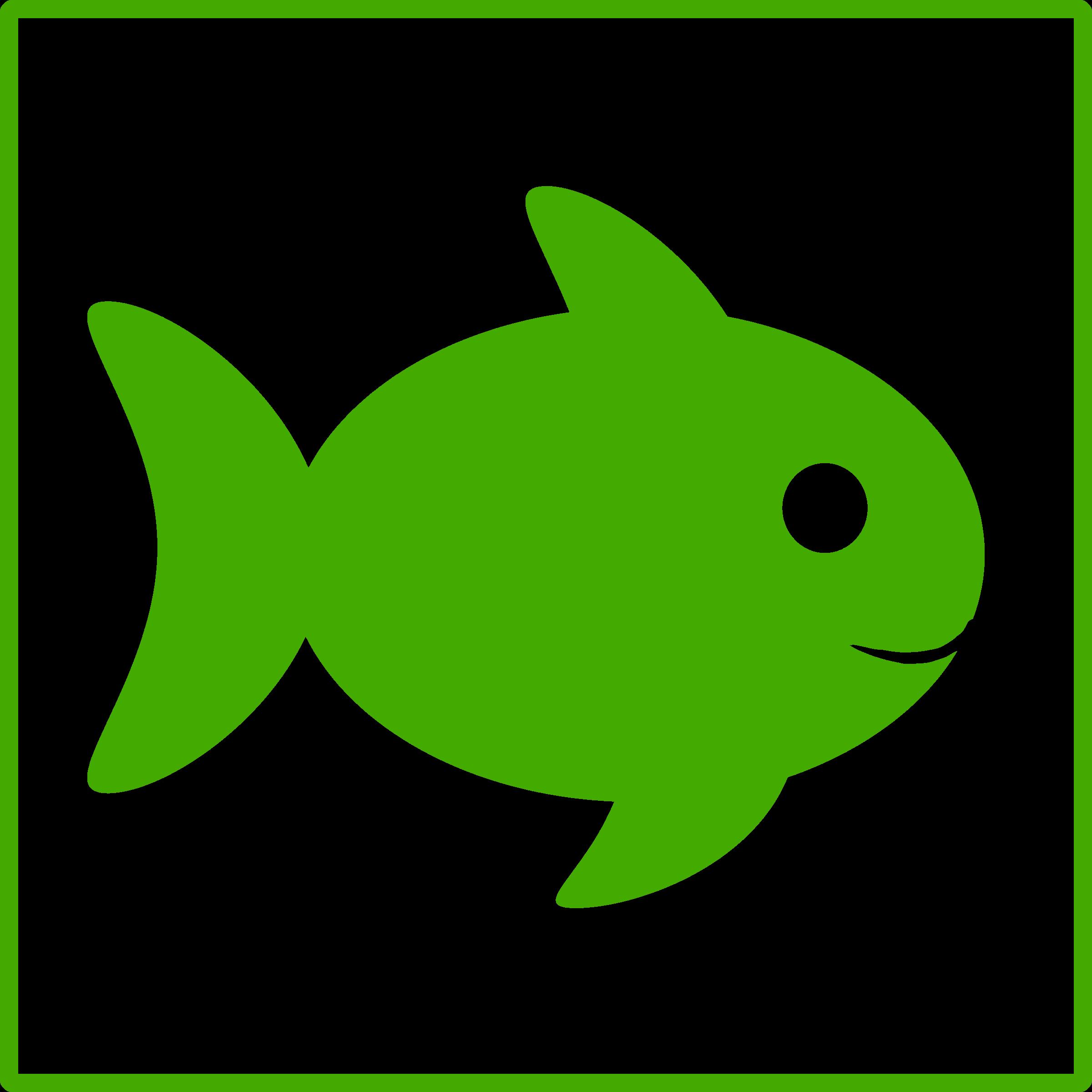 Fish clipart face. Eco green icon big