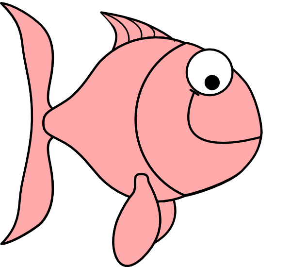 Pink fish bubbles clip. Fishing clipart fishing trip