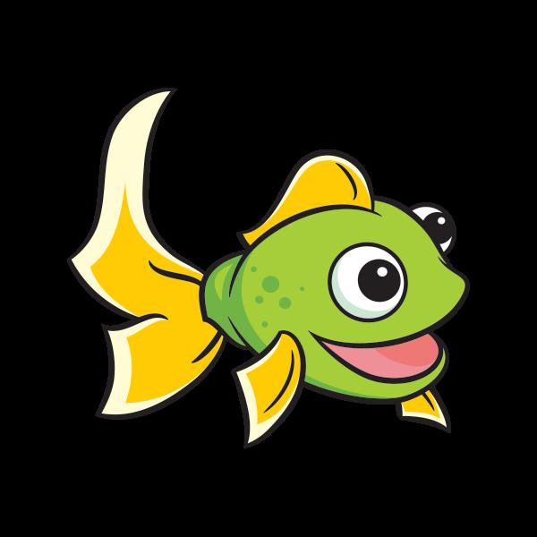 Printed vinyl cartoon happy. Crane clipart fish