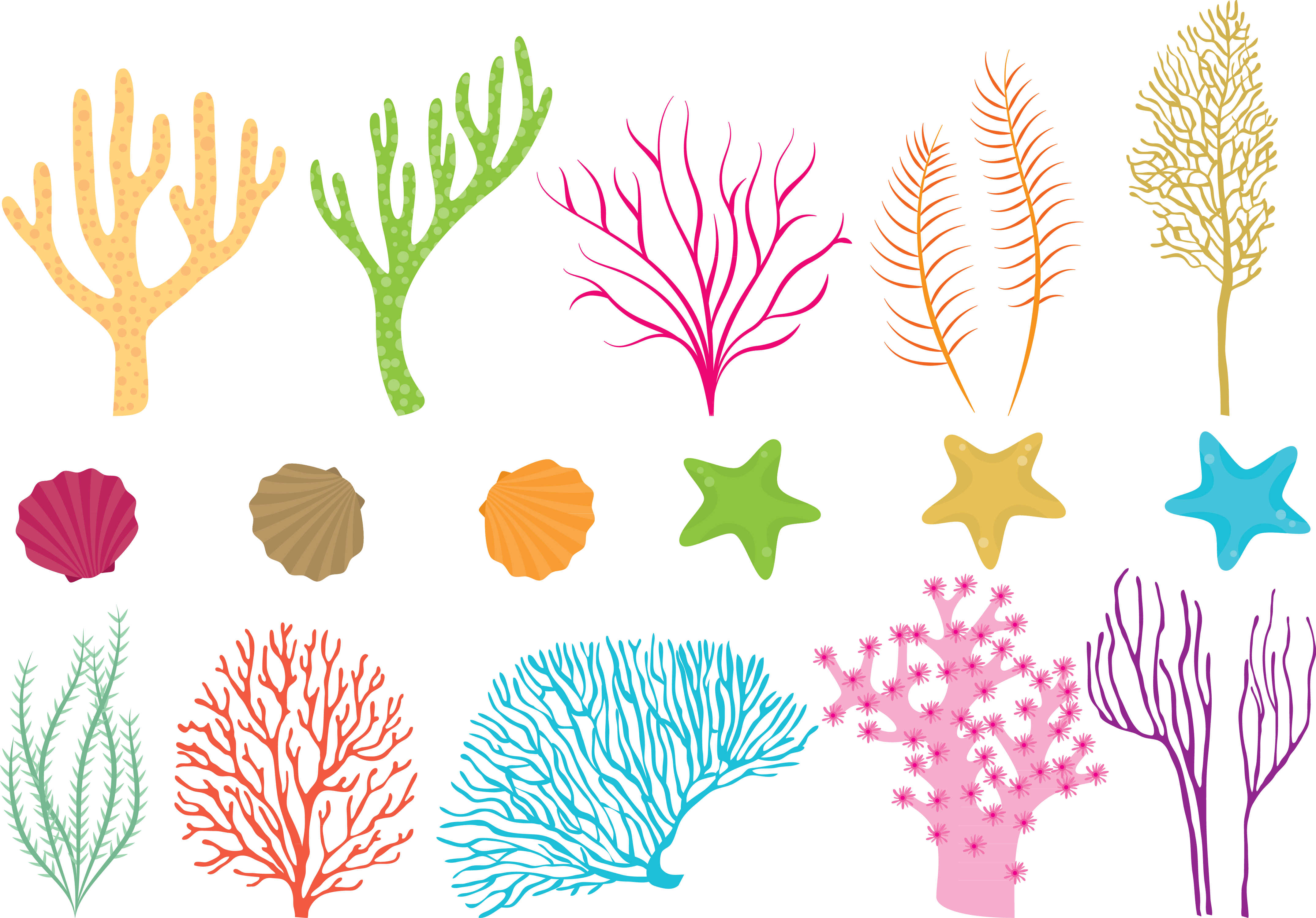 Starfish clipart coral reef, Starfish coral reef ...