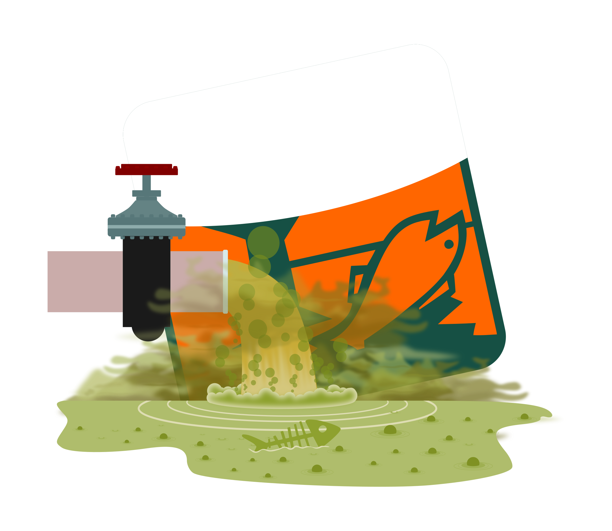 Fish clipart water pollution. Big image png