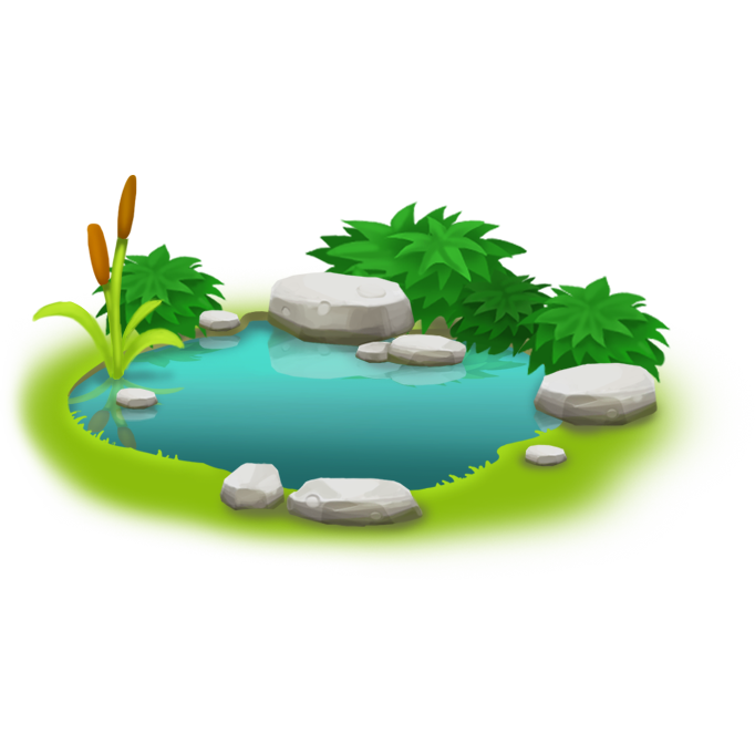 Ducks clipart fish pond game. Image small png hay