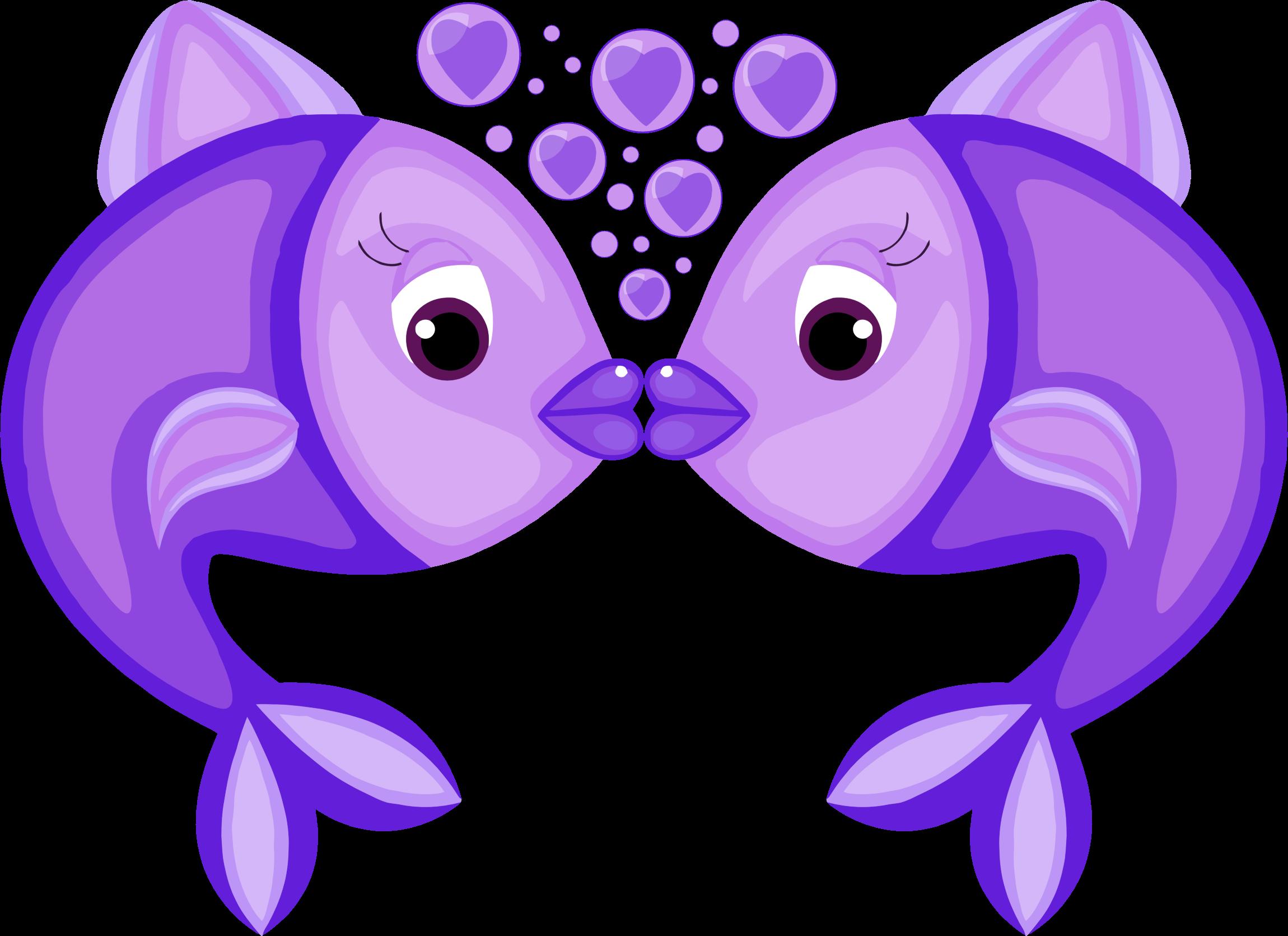 purple clipart fish