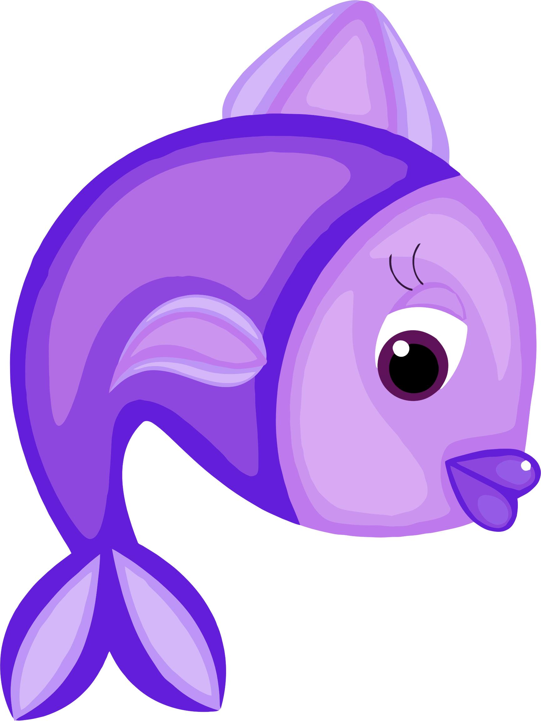 Fish clipart purple, Fish purple Transparent FREE for ...