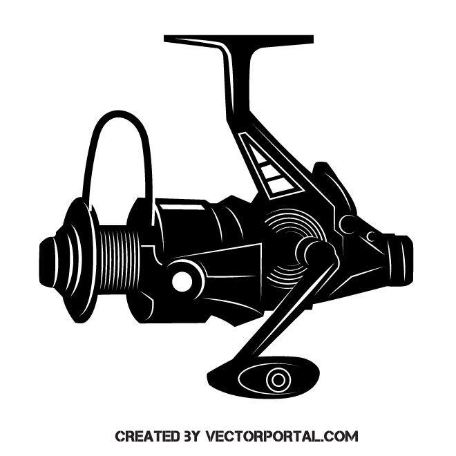 Fish clipart reel. Fishing vector clip art