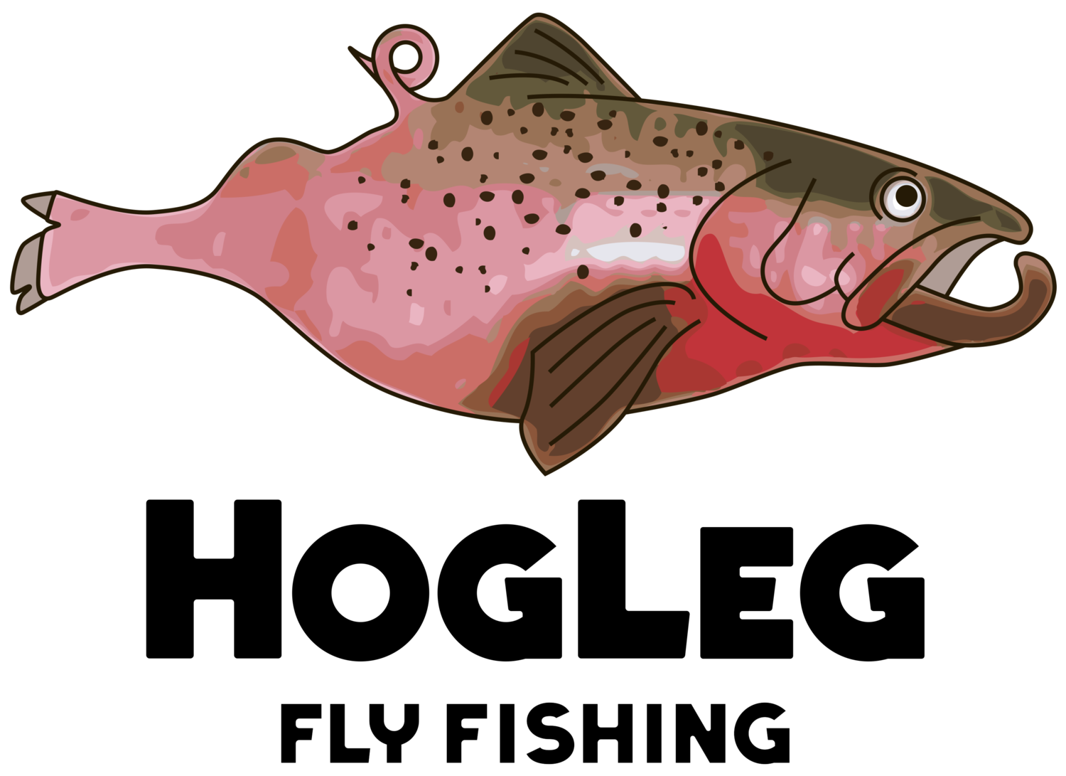 Hog leg fly fishing. Salmon clipart cutthroat trout