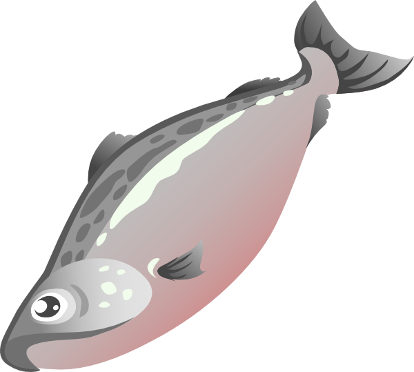 Clip art at clker. Salmon clipart salmon sushi