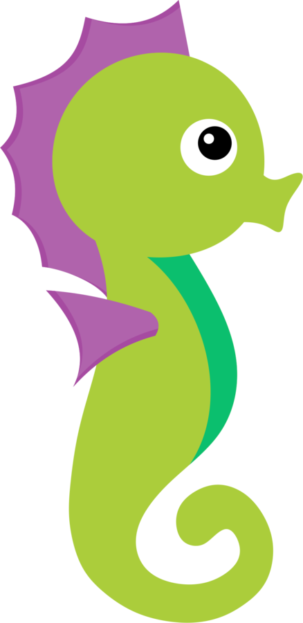 clipart fish seahorse