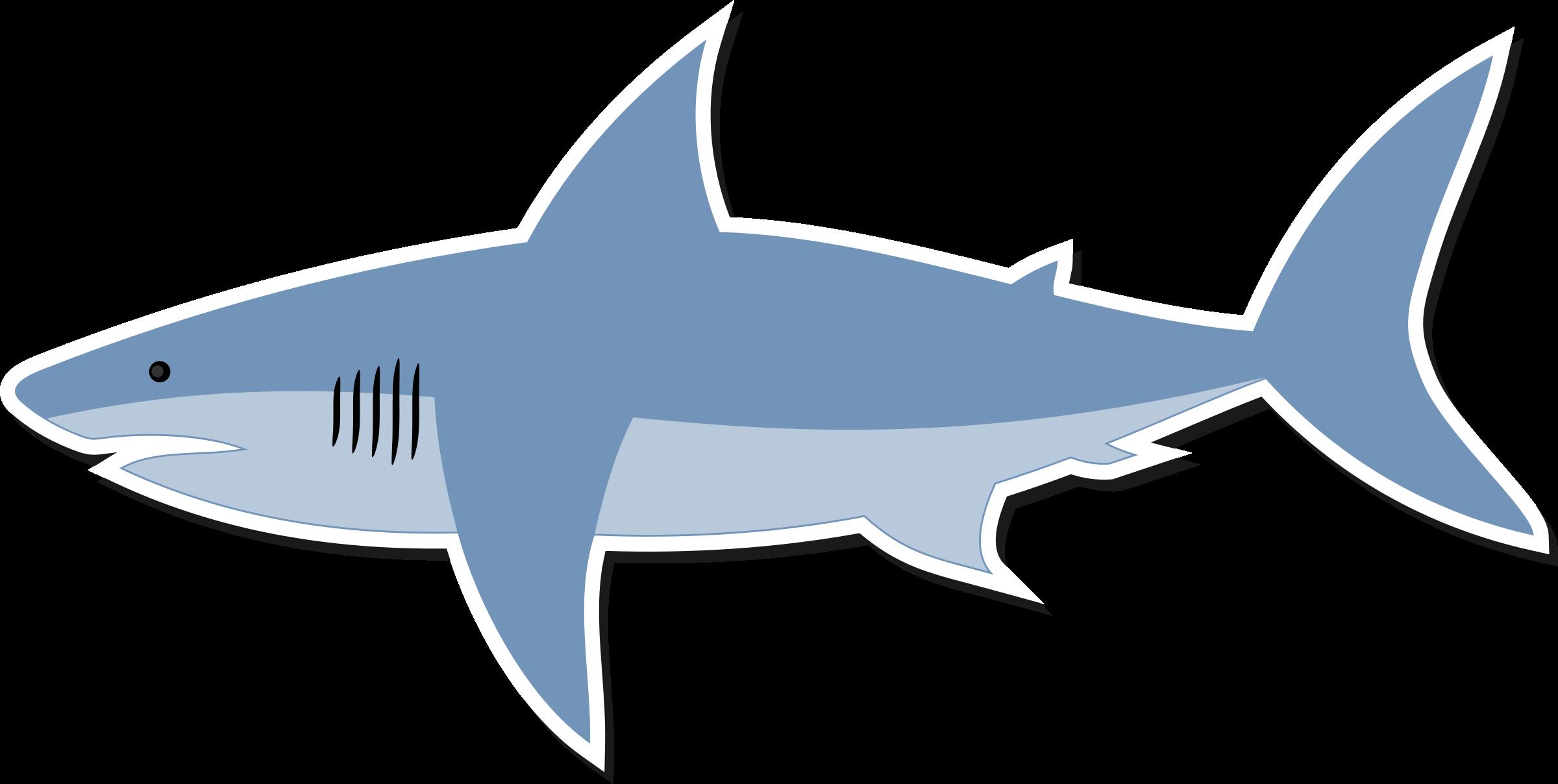 Cartoon big image png. Clipart fish shark