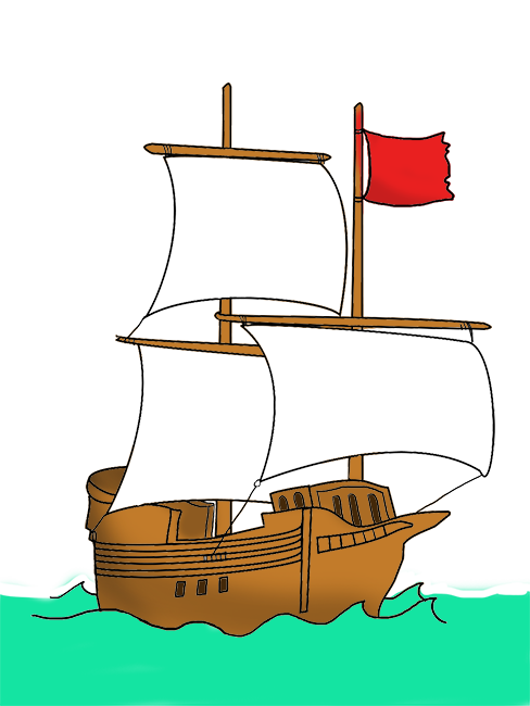 Clipart fish ship. Pirate clip art with