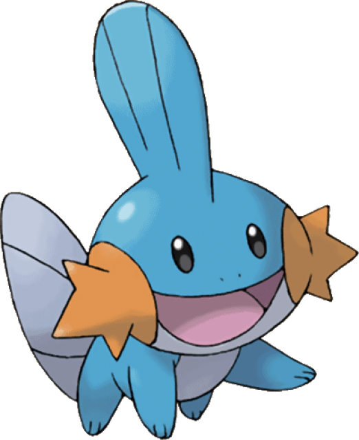 Mudkip pokemon transparent png. Clipart fish side view