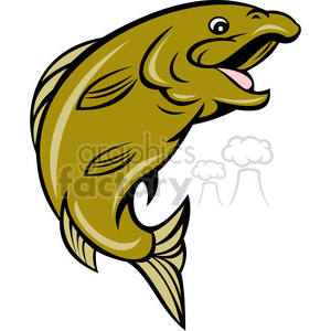 Happy sideview royalty free. Fish clipart side view