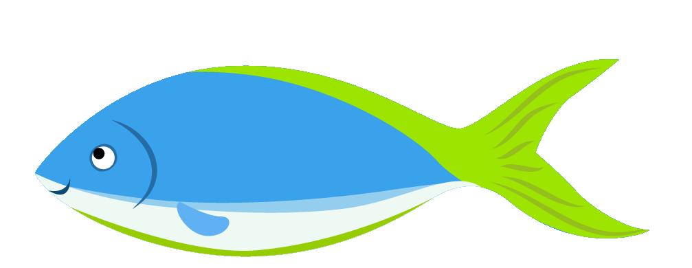 Marine biology cartoon clip. Clipart fish side view