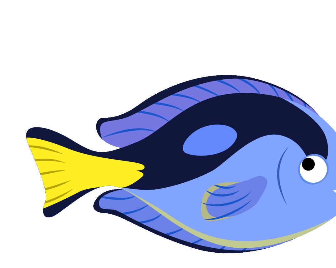 Jellyfish cartoon ocean clip. Clipart fish side view