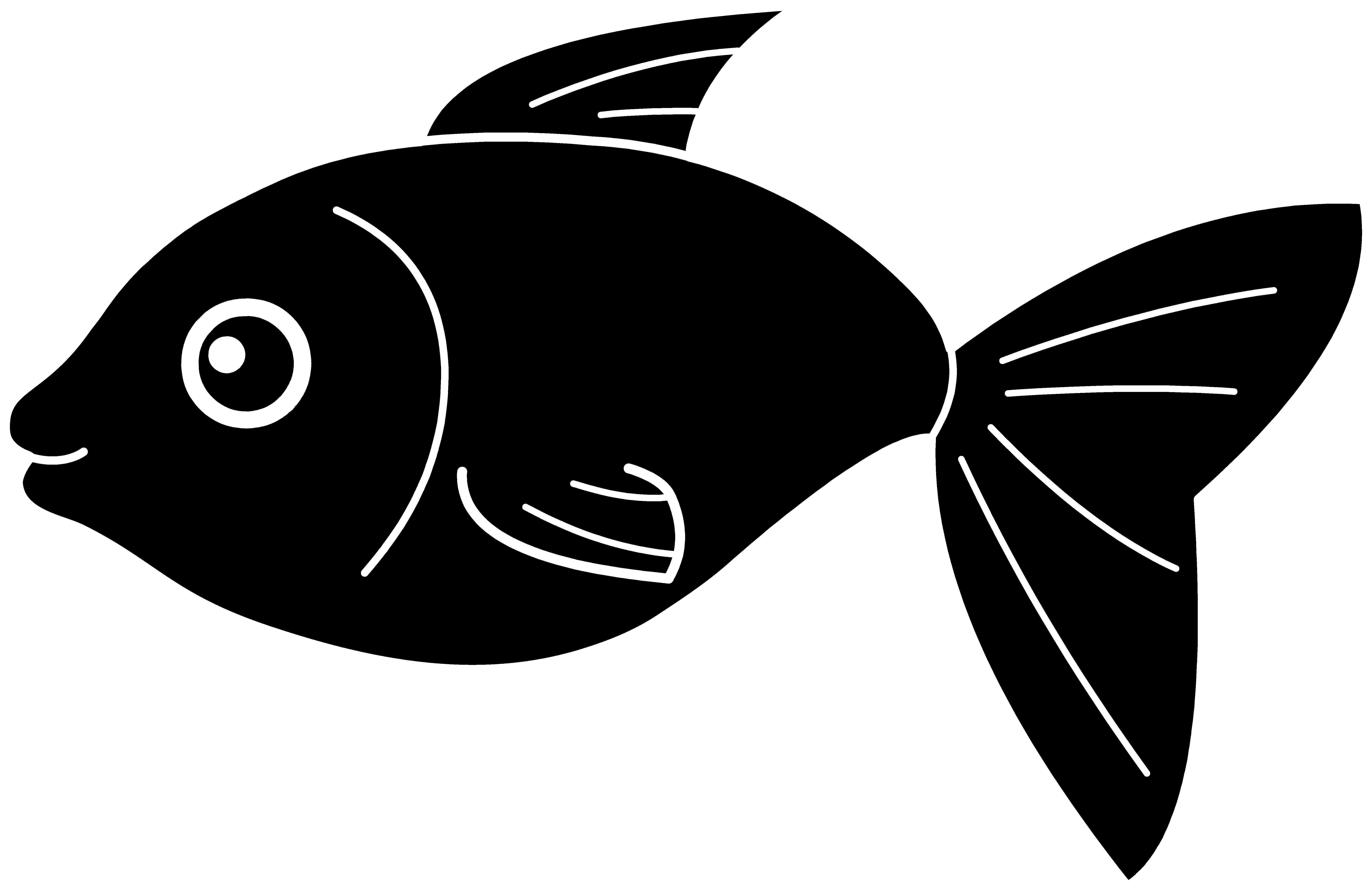 Fishing clipart bass. Black fish silhouette free