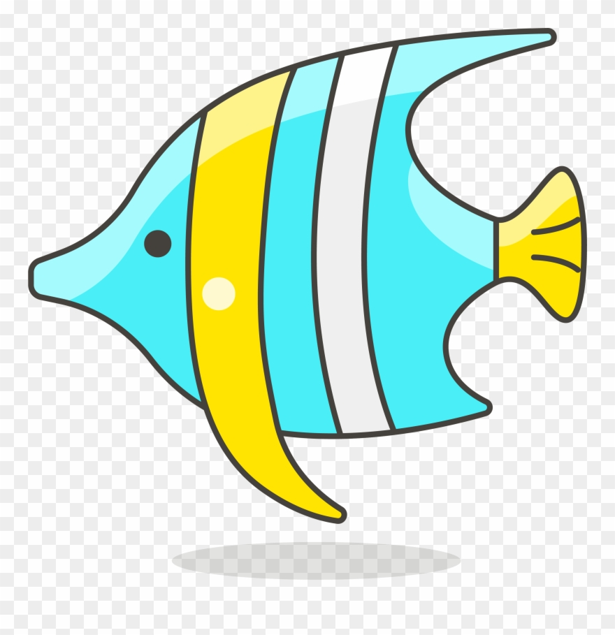 Clip art lovely tropical. Clipart fish simple