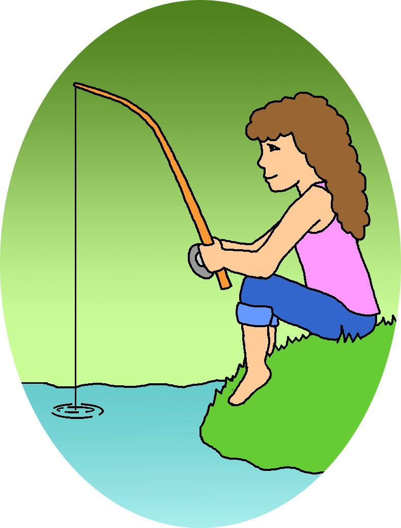 Fishing arts and crafts. Fish clipart summer