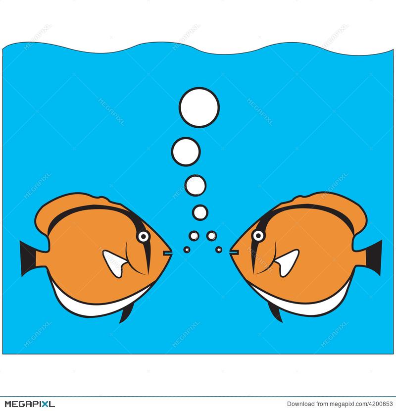 Illustration megapixl . Clipart fish talk