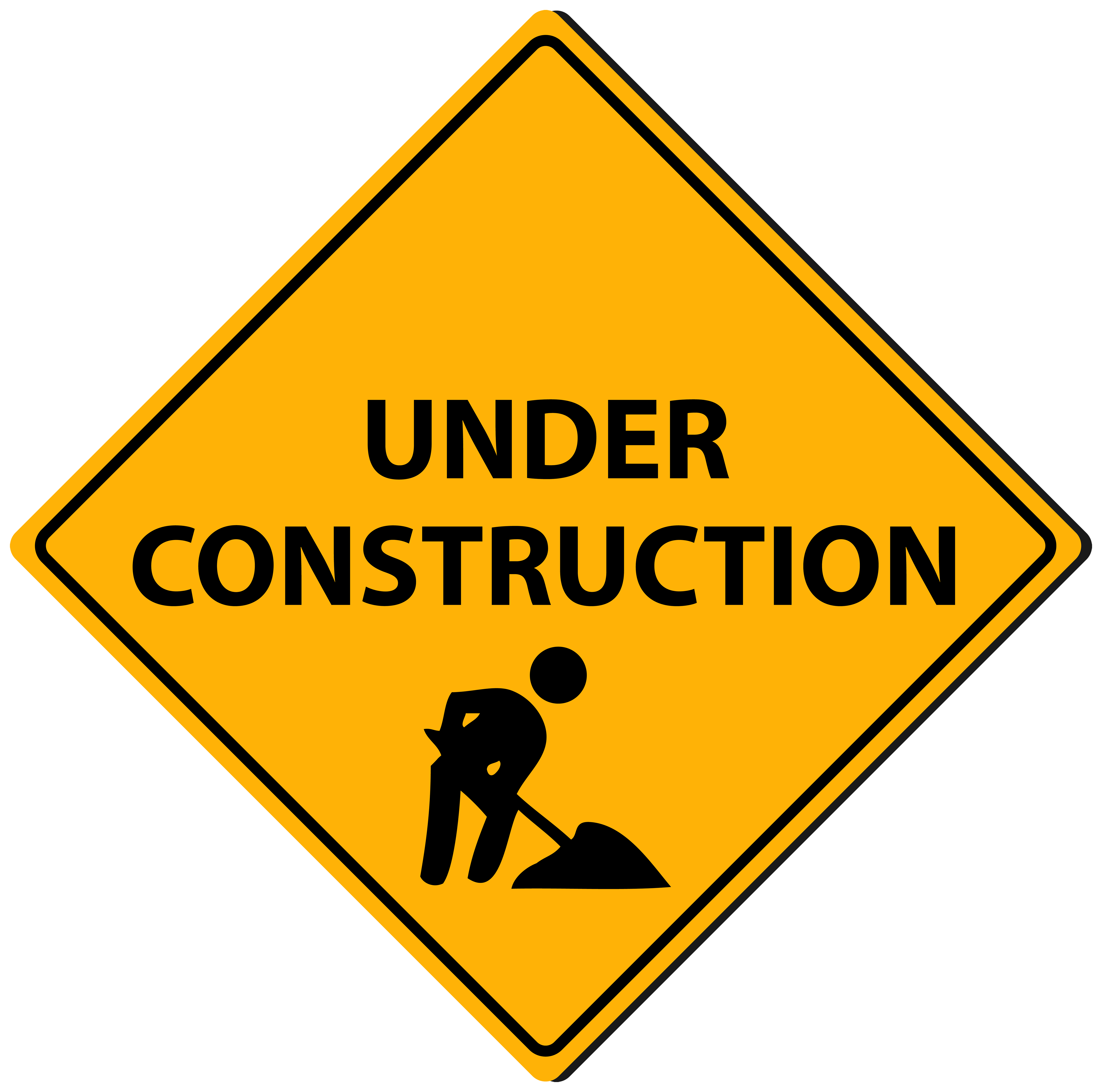 Triangle sign png best. Website clipart under construction