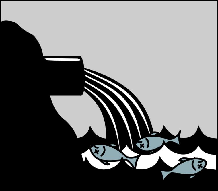 Water air clip art. Fish clipart pollution