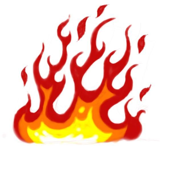 Clipart flames. Cartoon fire panda free