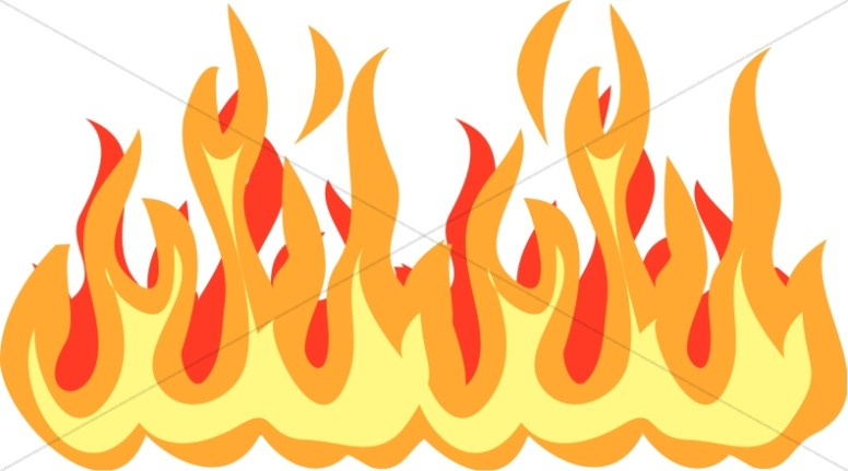 Fire and pentecost. Flames clipart