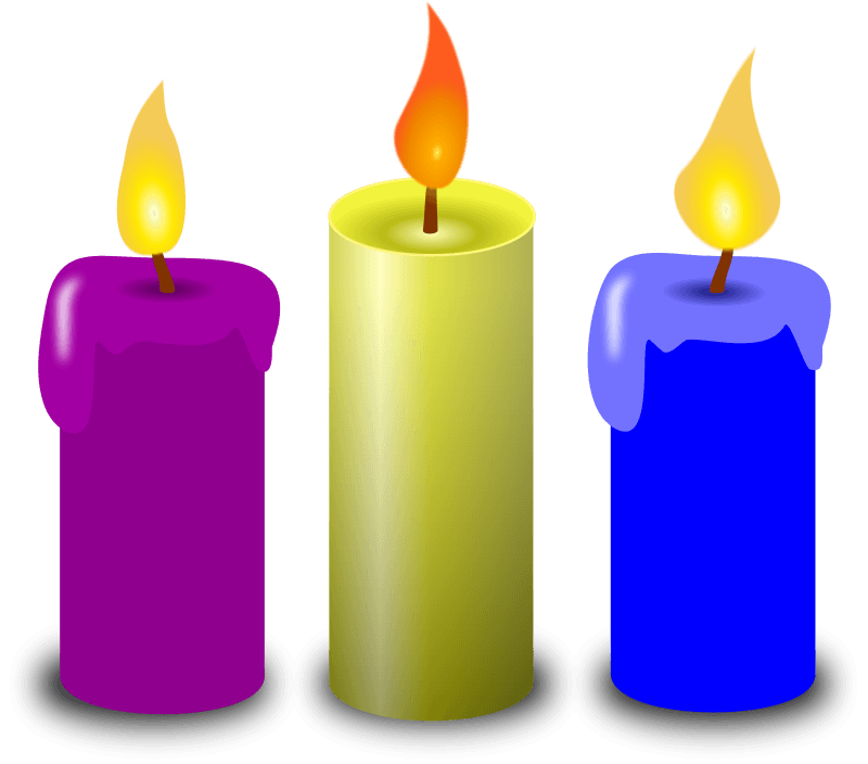 Free church garden cliparts. Candles clipart animated