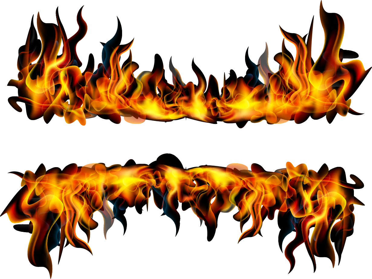 Clipart flames banner. Flame fire combustion transprent