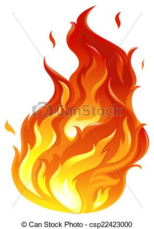 Flames clipart big fire. Vector a stock illustration