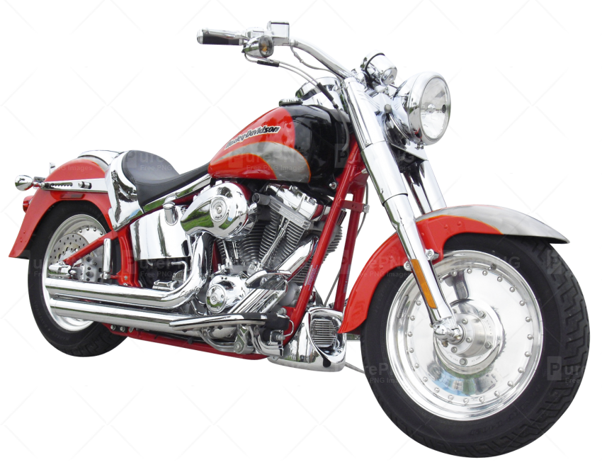 Red cool motor cycle. Motorcycle clipart back