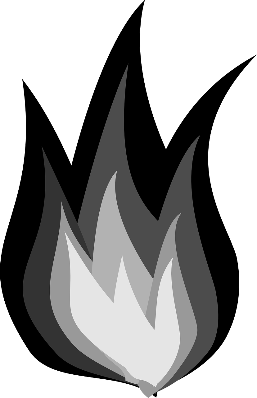 Heat clipart black and white. How to draw flames