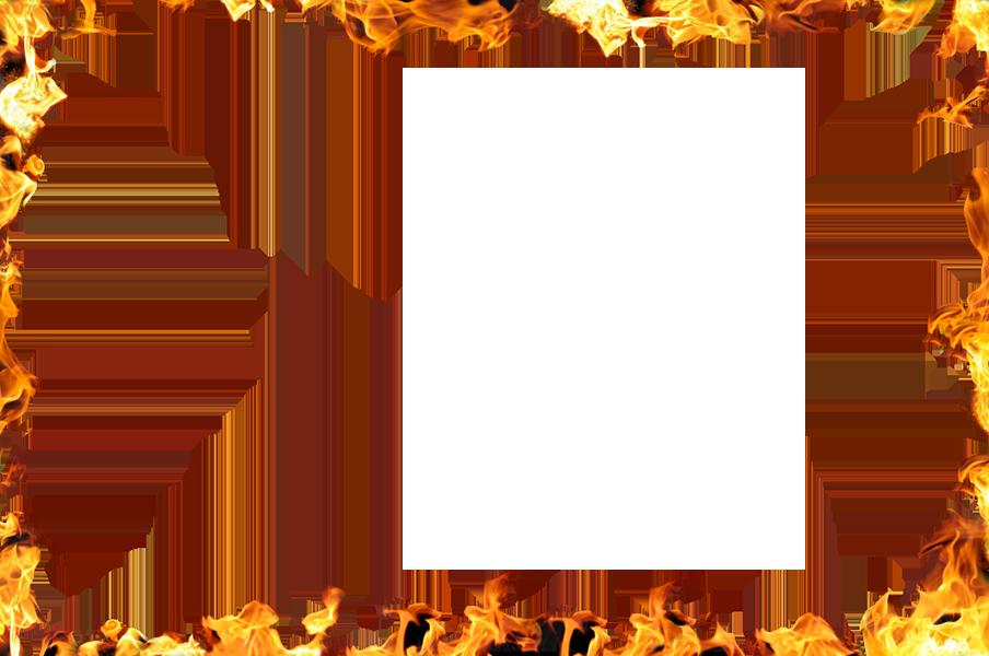 Flame clip art border. Fire frame png