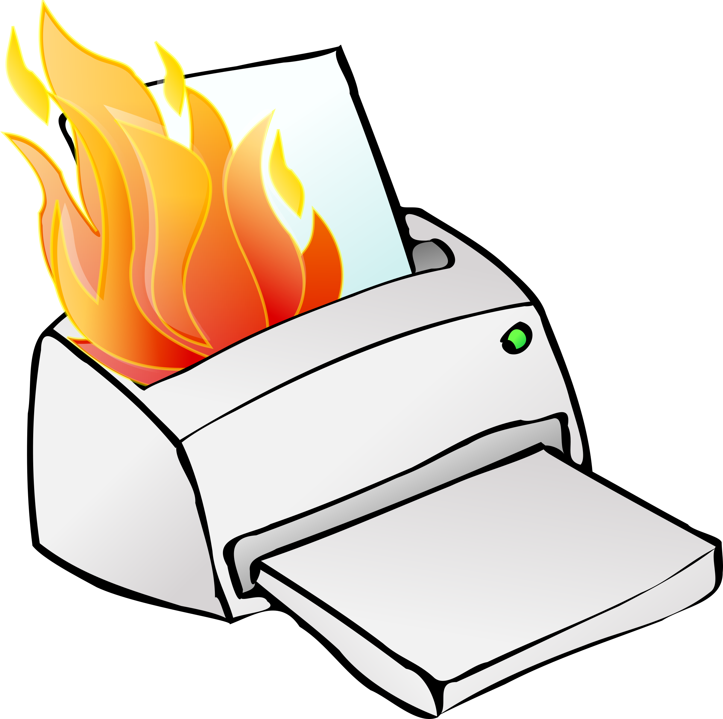 Fire clipart clip art. Printer on big image