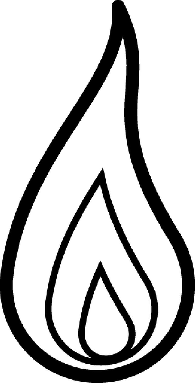Flames drawn