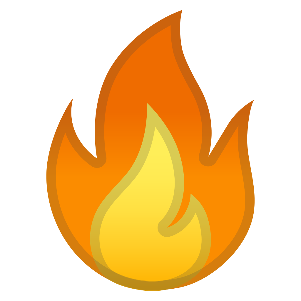 Noto emoji travel places. Fire icon png