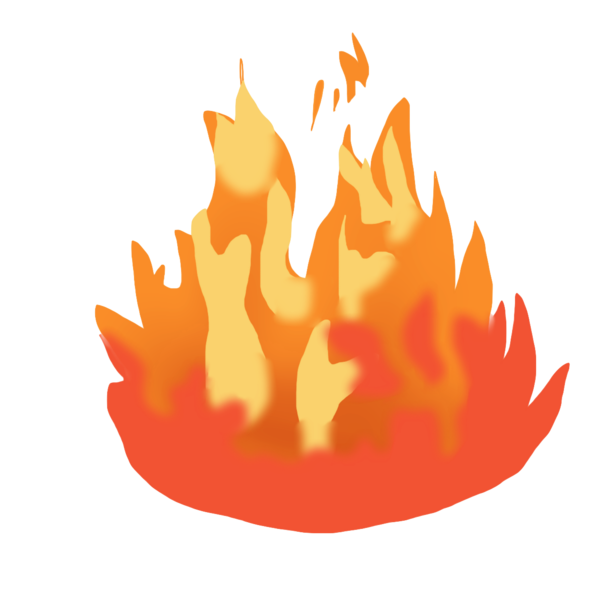 Free images at clker. Tree clipart fire