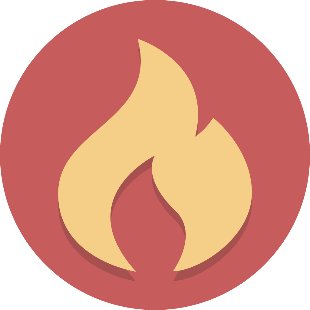 File circle icons flame. Clipart flames fire symbol