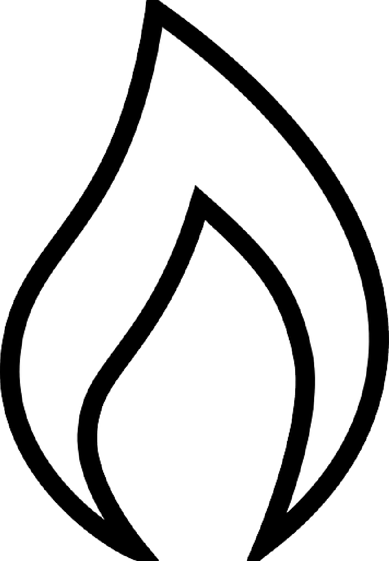 Clipart flames fire symbol. Black and white panda
