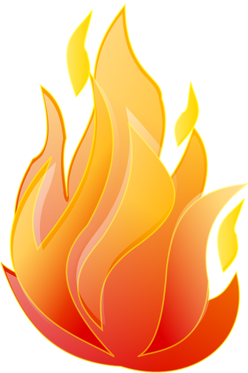 Flames clipart fire oven. Free image on pixabay
