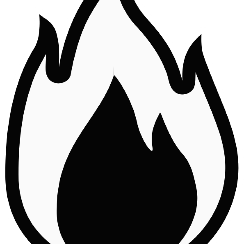 Clipart flames gas. Flame black and white