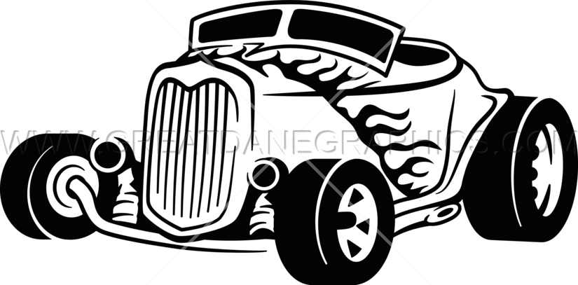 flame clipart hot rod