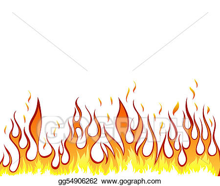 Stock illustration fire background. Clipart flames inferno