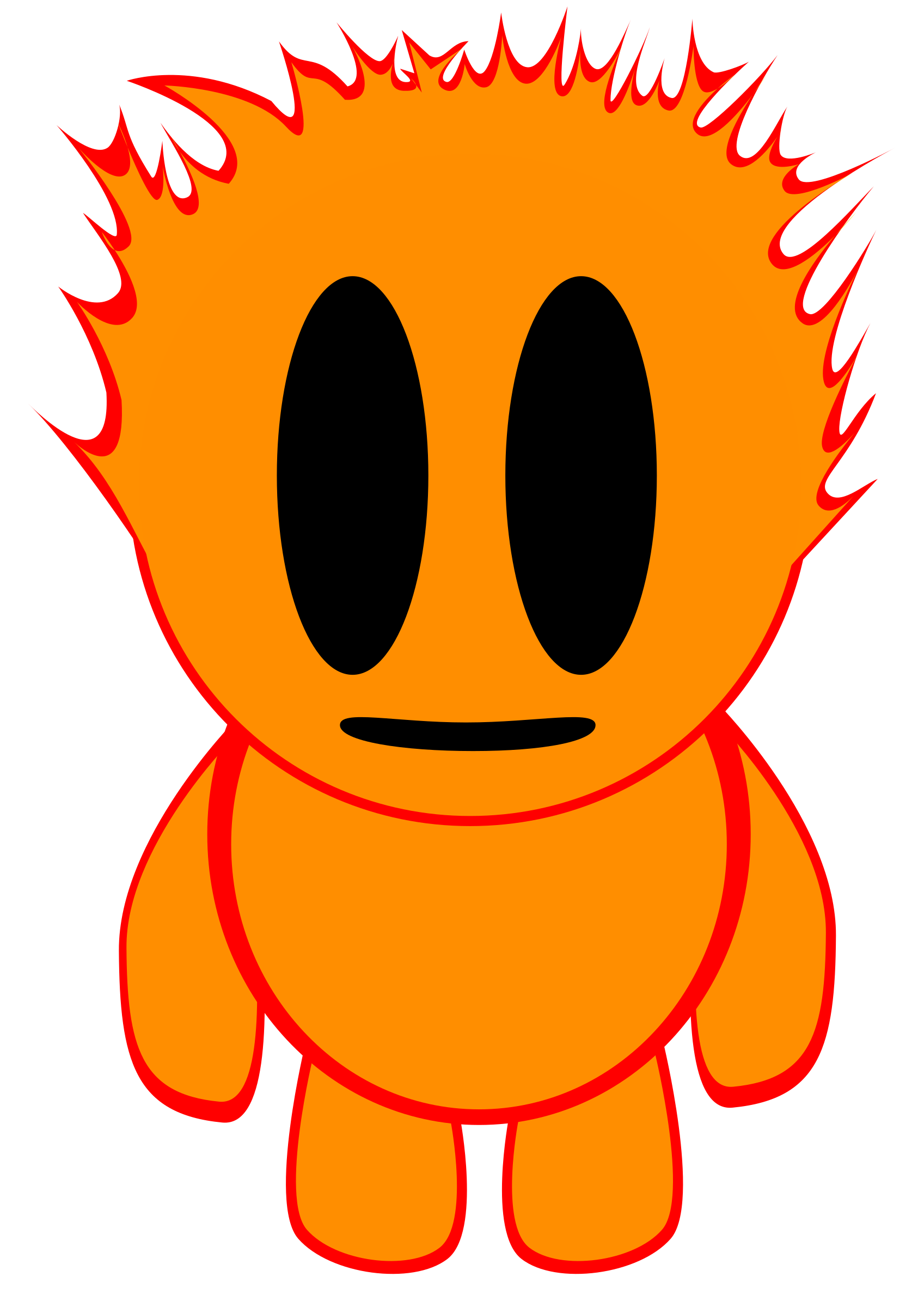 Line clipart flame. Boy big image png