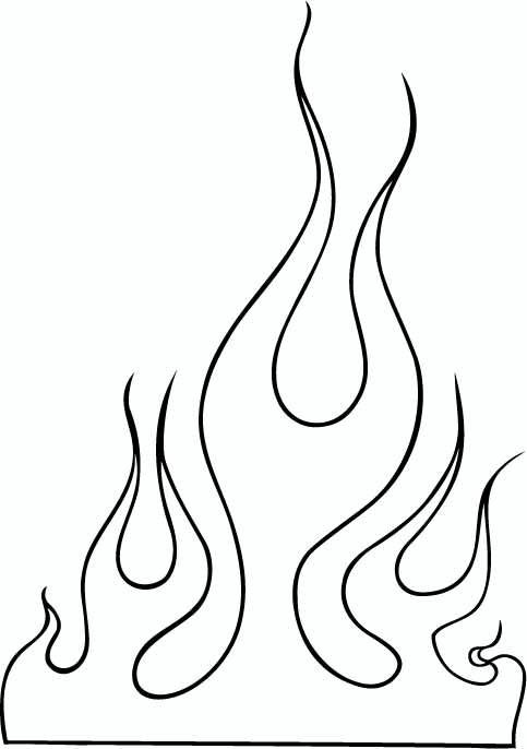 Flame clipart outline. Images clip art flames