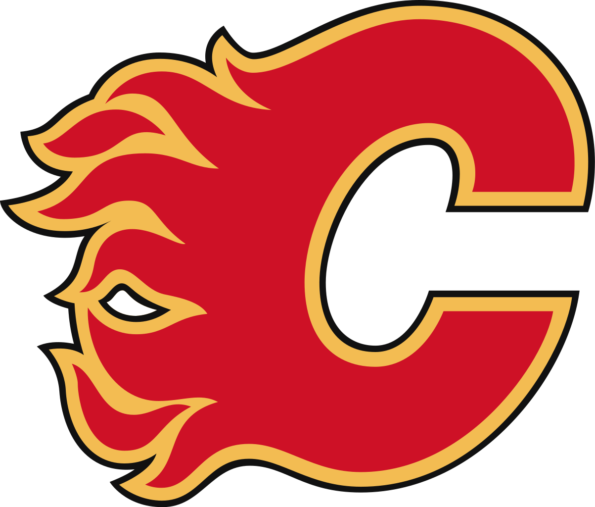 Calgary flames logo transparent. Hockey clipart symbol