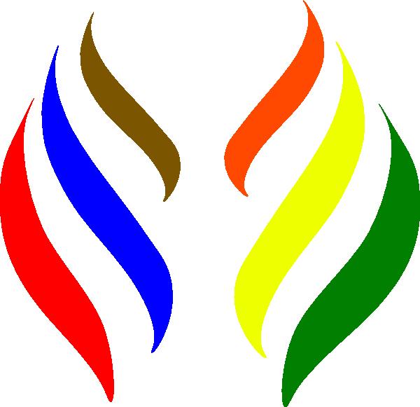 Torch clipart flame. R o b logo