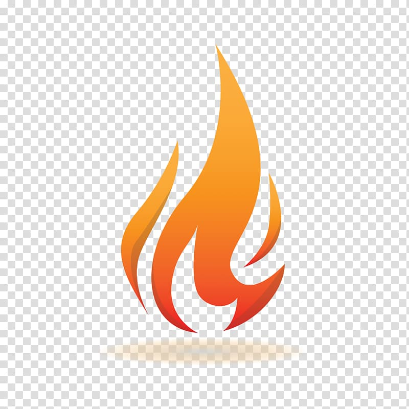 Red flame transparent background. Fire clipart logo