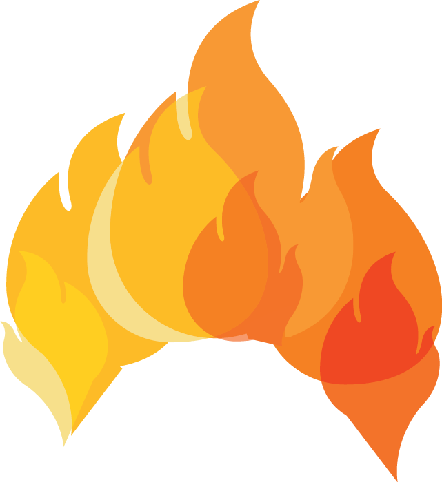Clipart flames orange flame. Certainteed fire performance