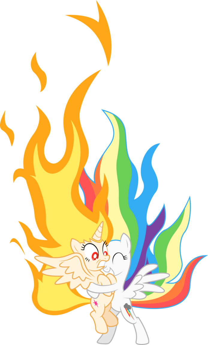 Clipart flames rainbow. Flame princess twilight and